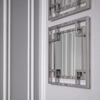 Vierkante spiegel 'Morris' met hooglans finish lijst 90x 90x D. 5cm
