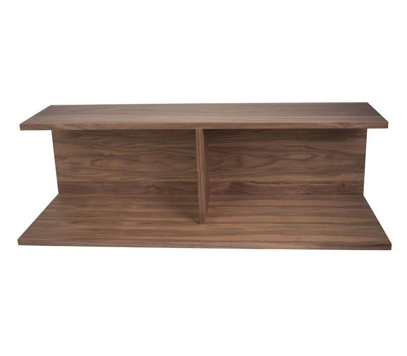 Bookshelf voor 'Modular' bank - walnut