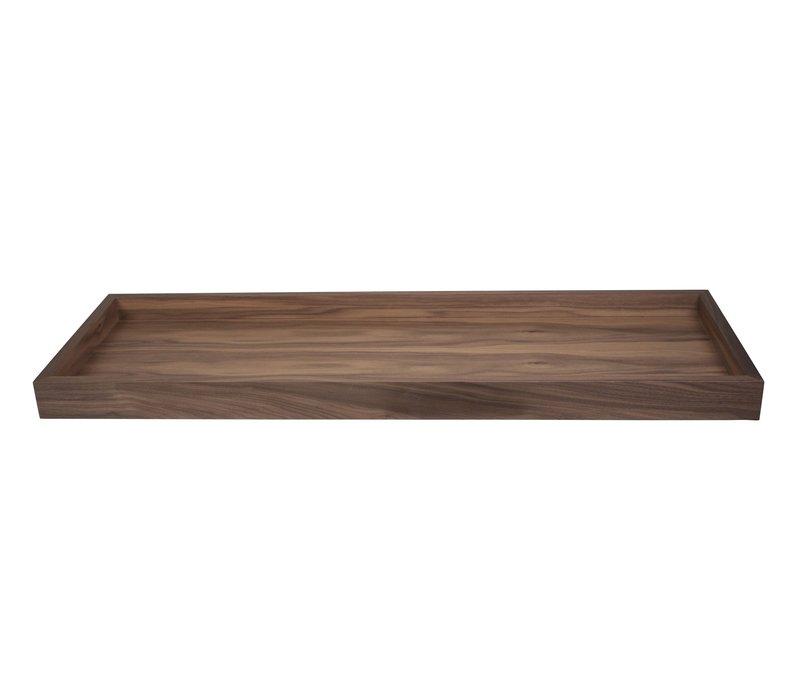 Tray for 'Modular' bank - walnut