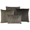 CLAUDI Cushion combination Brown/Dark Taupe: Perla, Speranza, Esta & Zafira