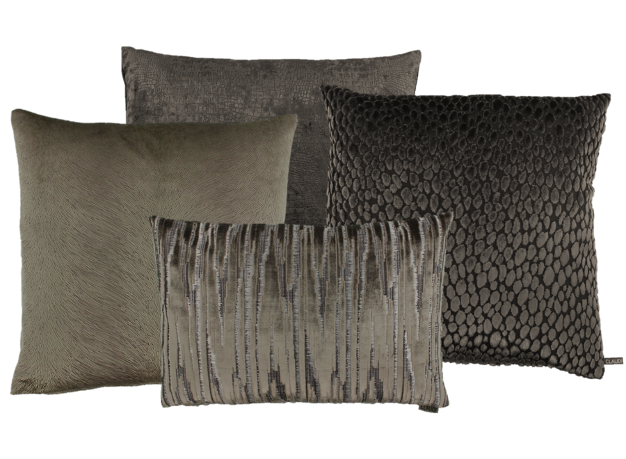 Cushion combination Brown/Dark Taupe: Perla, Speranza, Esta & Zafira