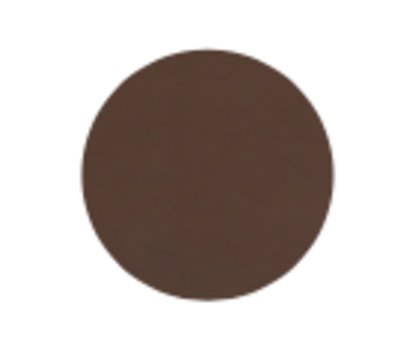 Ronde bijzettafel 'Enamel Top' Brown met messing voet
