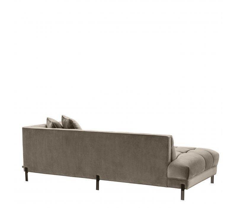 Sofa 'Sienna' Greige Velvet - Right