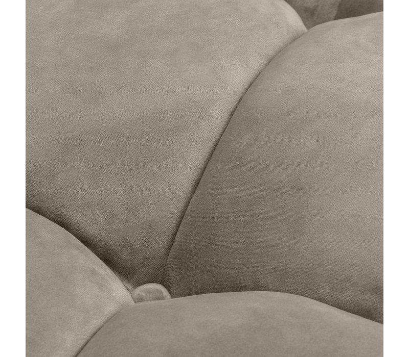 Sofa 'Sienna' Greige Velvet - Left