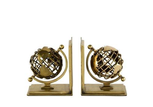 EICHHOLTZ Boekensteunen 'Globe' Set van 2