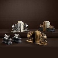 'Globe' Bookend Set van 2 Antique Brass
