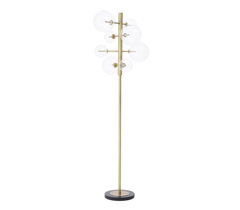 'Argento' Floor Lamp antique brass height 180 cm