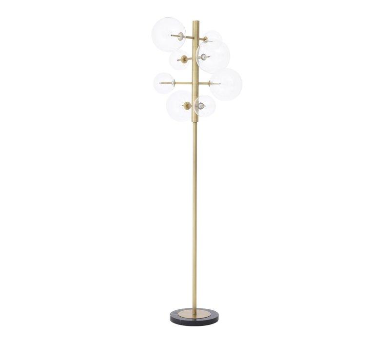 Vloerlamp 'Argento' antique brass met hoogte 180cm