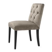 Dining Chair 'Atena' Savona Greige Velvet