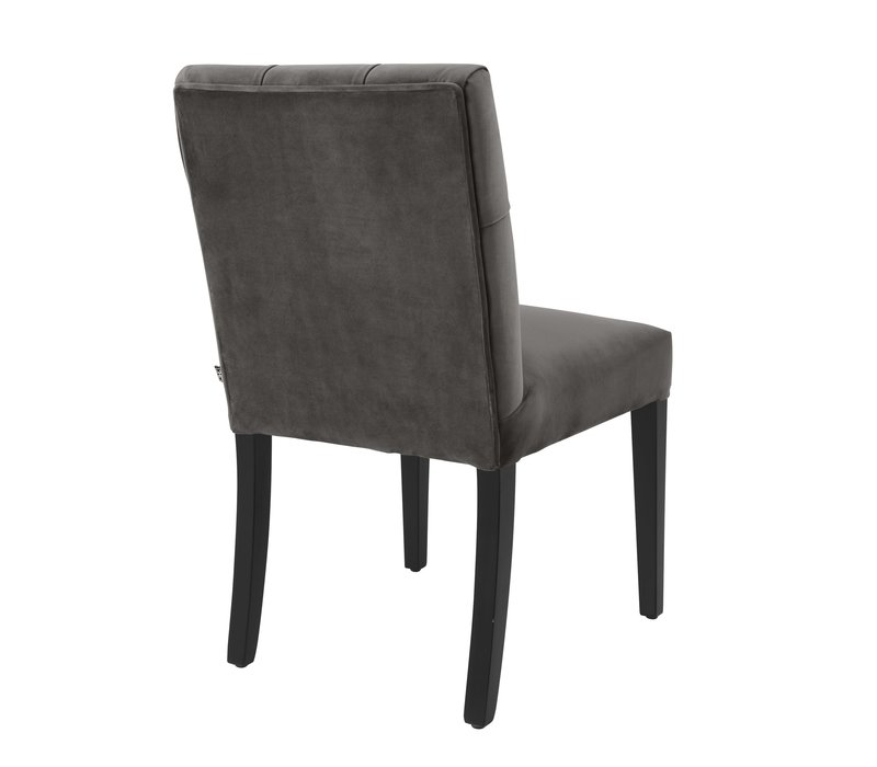Dining Chair 'Atena' Savona Grey Velvet