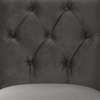Eetkamerstoel 'Atena' Savona Grey Velvet