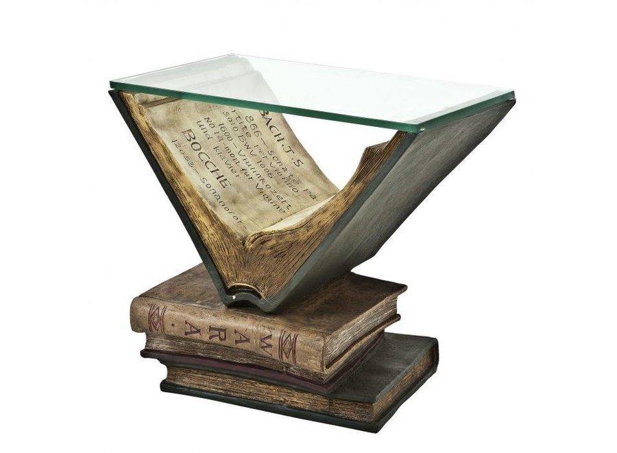 Bijzettafel Old Books