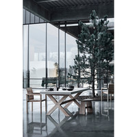 Dining table North 200cm, industrialism and nature