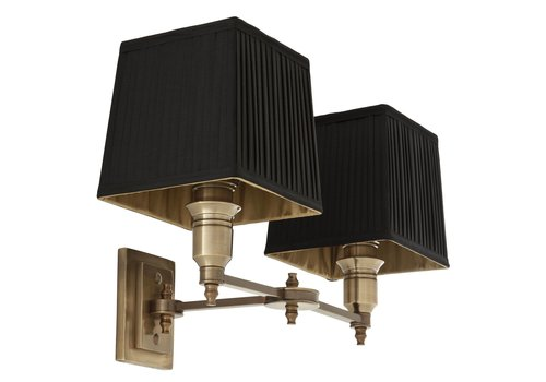 EICHHOLTZ Wall lamp Lexington Double - Black / Brass