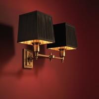 Wandlampe 'Lexington' Double  Black/Brass