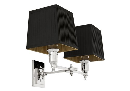 EICHHOLTZ Wandlamp Lexington Double - Black/Nickel