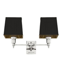 'Lexington' Double Wall Lamp Black / Nickel