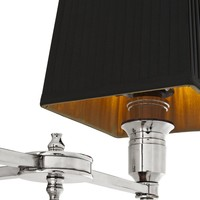 Wandlampe 'Lexington' Double  Black/Nickel