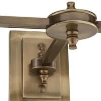 'Lexington' Double Wall Lamp White/ Brass
