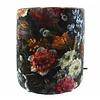 CLAUDI Pouf Bibi Flowers Black