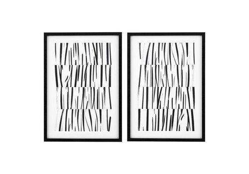 EICHHOLTZ Prints Melotti Black & White Set van 2