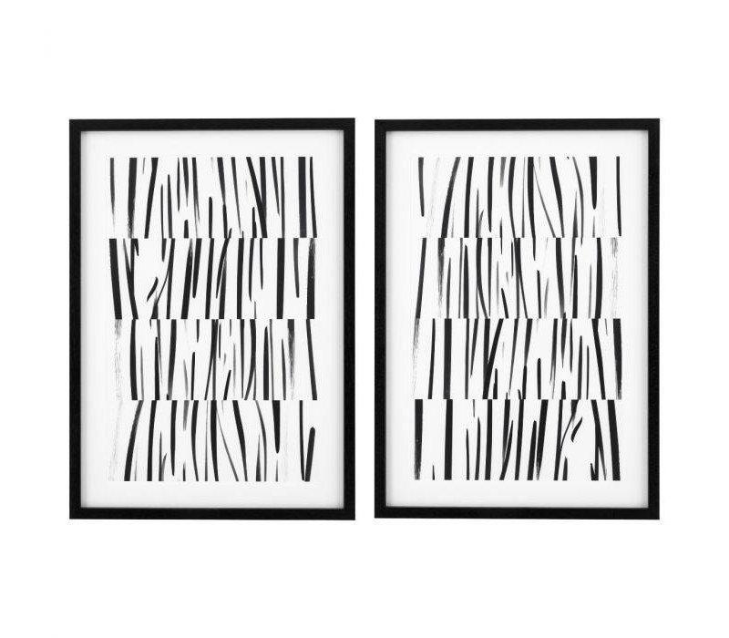 Melotti Black & White Prints Set of 2
