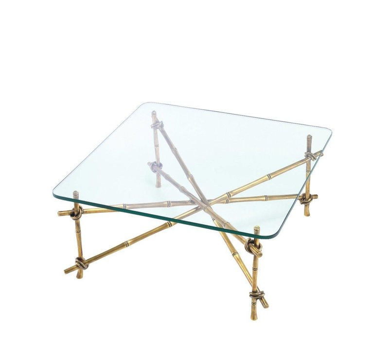 Design Salontafel 'Kahala' met glazen tafelblad