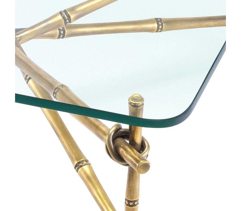 'Kahala' designer coffee table with glass table top
