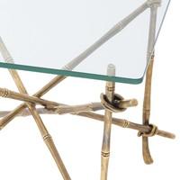 'Kahala' designer side table with glass table top