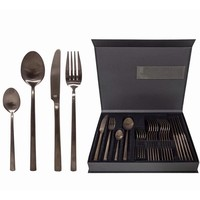 Cutlery set 6-division in the color Brown metal
