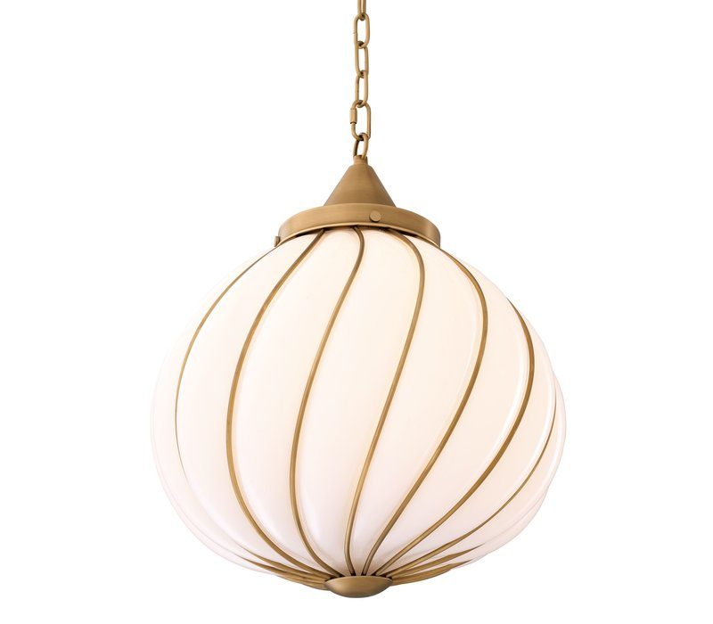 Chandelier 'Romano' antique brass with a diameter of 50 cm