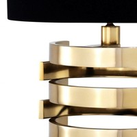 Tischlampe 'Boxter' mit ovalen schwarzen Schirm - S