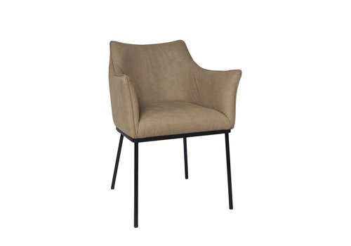 Dome Deco Dining chair - Arc Beige - with armrest