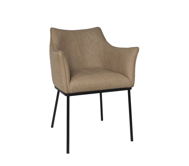 Dining chair - Arc Beige - with armrest