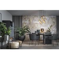 Dining chair - Arc Black - with armrest