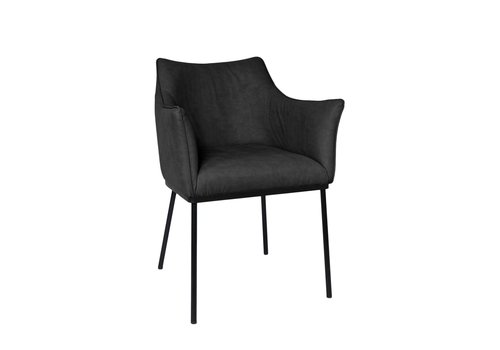 Dome Deco Dining chair - Arc Black - with armrest