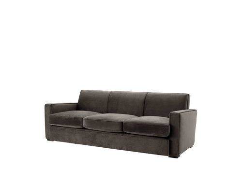 EICHHOLTZ Sofa 'Edmond' Gray Velvet