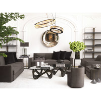 Sofa 'Edmond' Grey Velvet