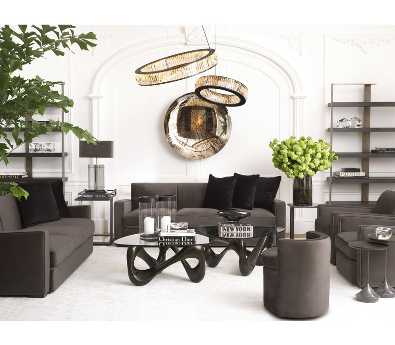 Chair 'Edmond' Gray Velvet