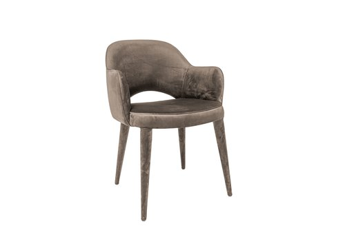 Dome Deco Dining chair 'Bow Beige' with armrest
