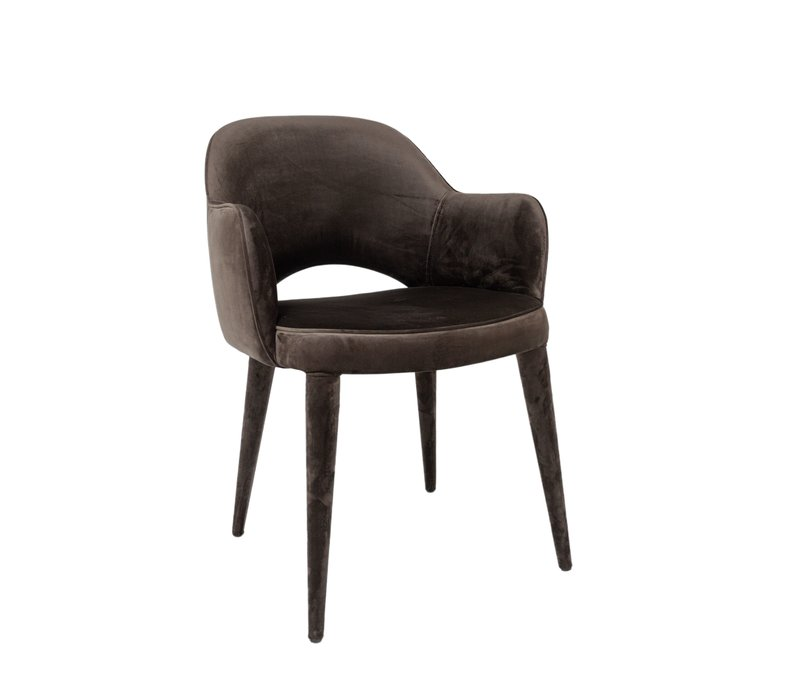 Dining chair - Bow Brown - with armrest