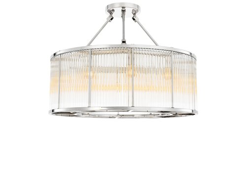 EICHHOLTZ Ceiling Lamp Bernardi- Nickel Finish