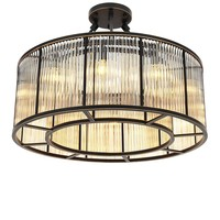 Plafondlamp 'Bernardi' Bronze highlight finish