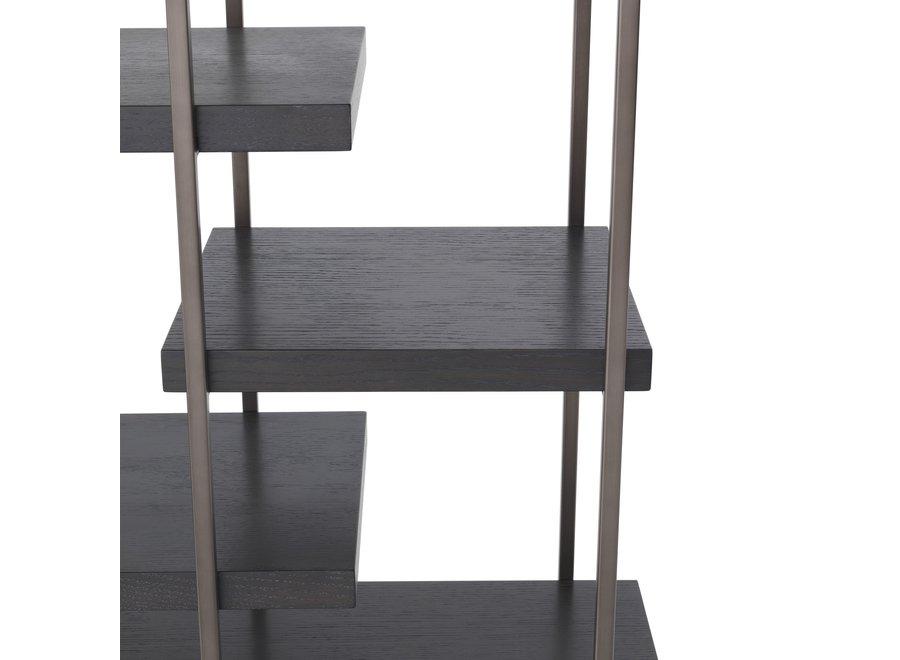 Cabinet 'Ward' in bronze finish en eiken fineer H. 222 cm