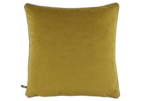 CLAUDI Cushion Astrid Mustard + piping Sand