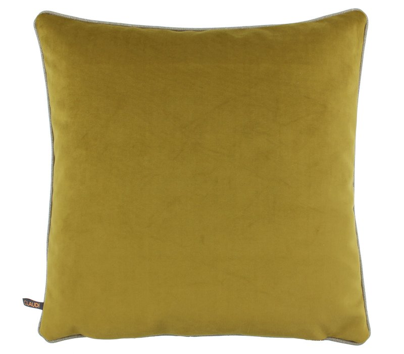 Cushion Astrid Mustard with piping