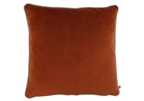CLAUDI Cushion Astrid Brique + piping Sand