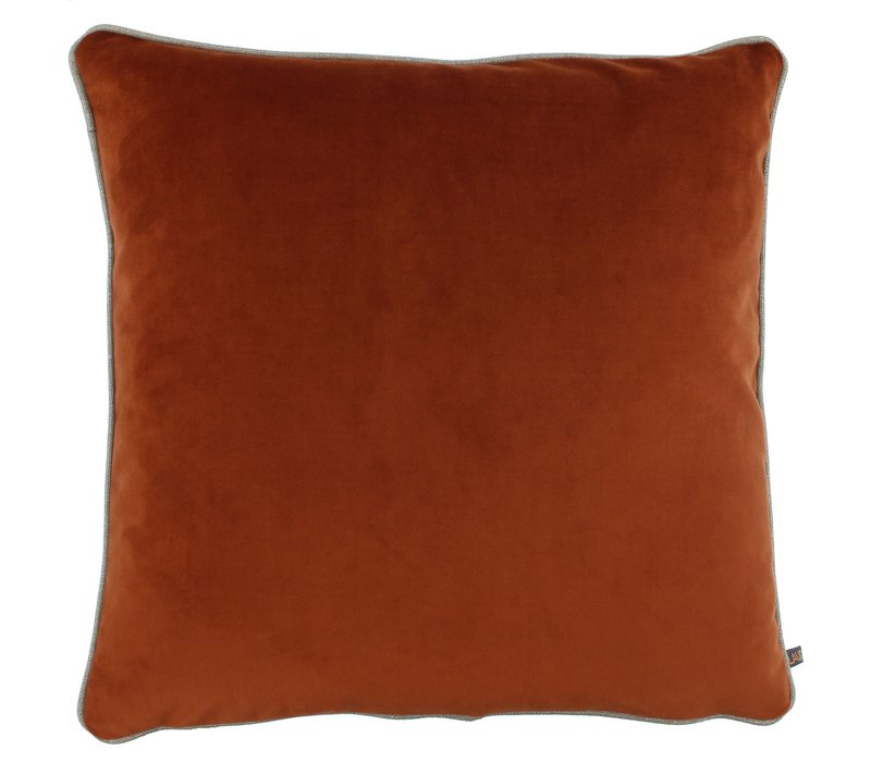 Cushion Astrid Brique with piping
