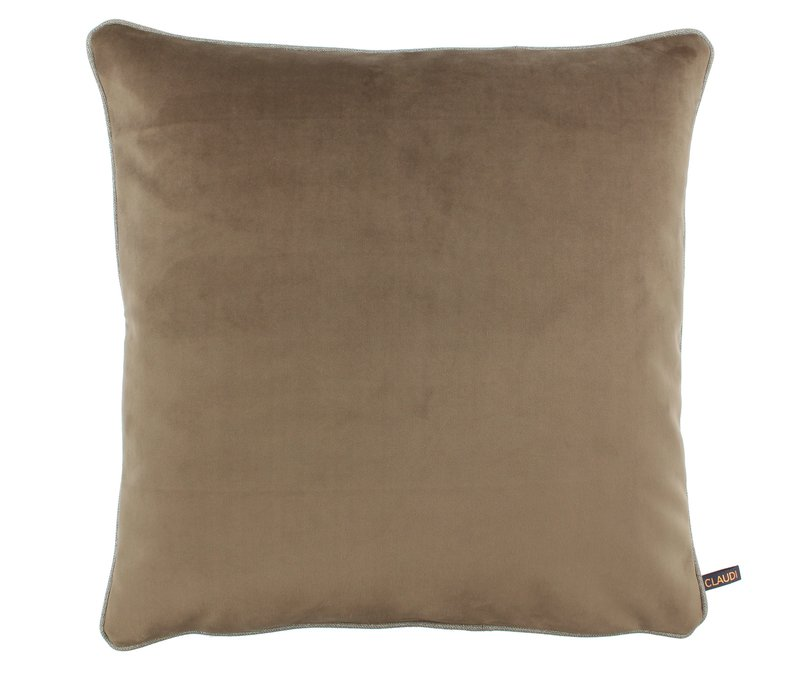 Cushion Astrid Brown with piping
