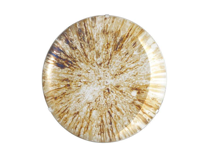 Dekorativer konkaver Spiegel 'Laguna S' Gold